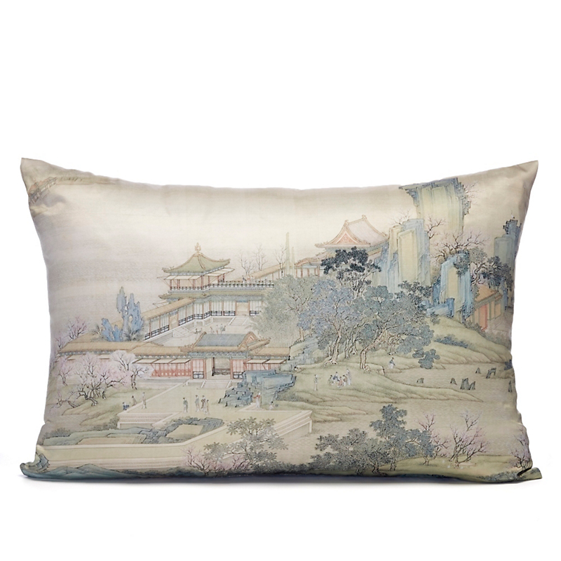 Palace Gates West Landscape Lumbar Pillow
