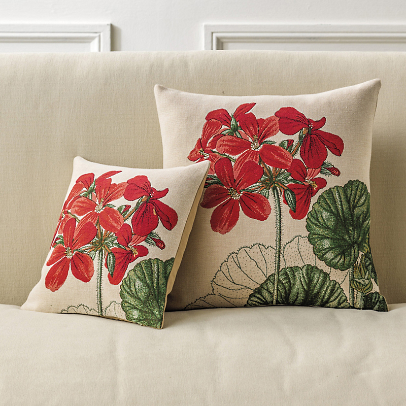 Geranium Tapestry Pillows