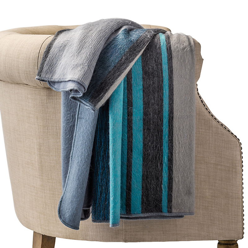 Coastal Angora Throw