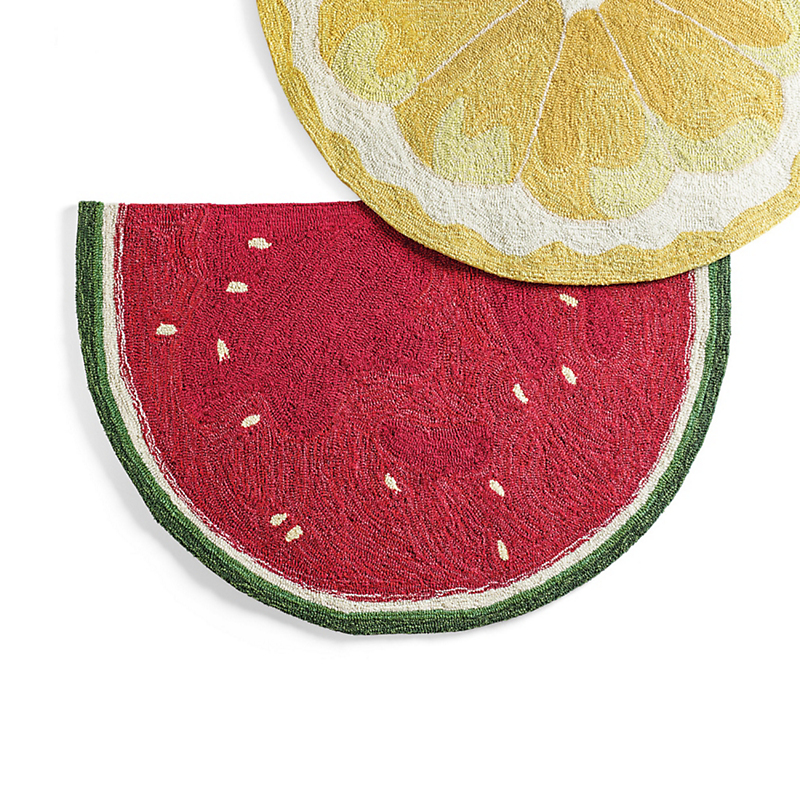 Watermelon Fruit Slice Indoor / Outdoor Rug