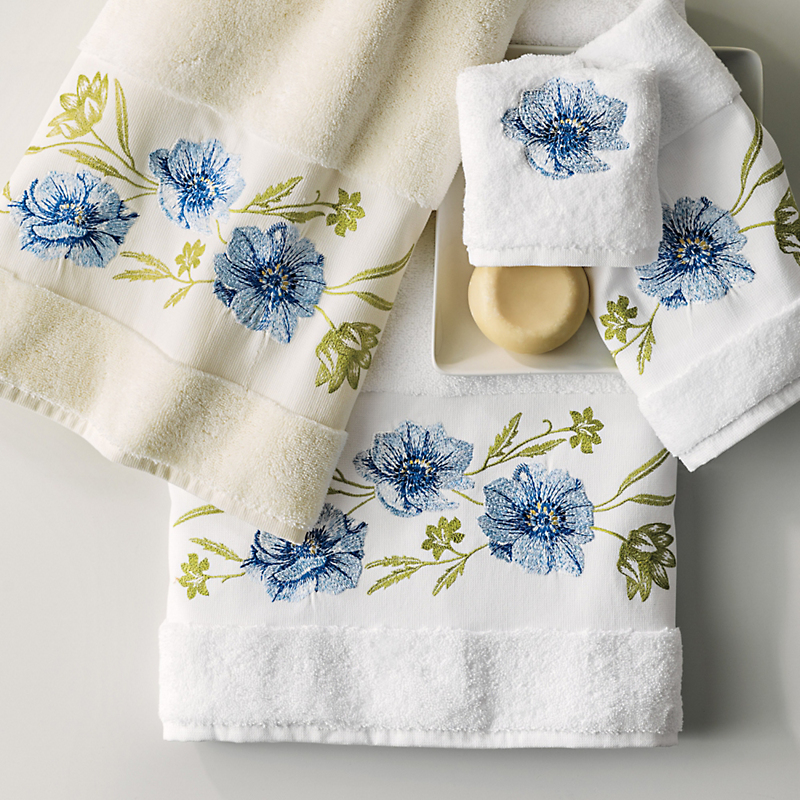 Blue Anemone Towels