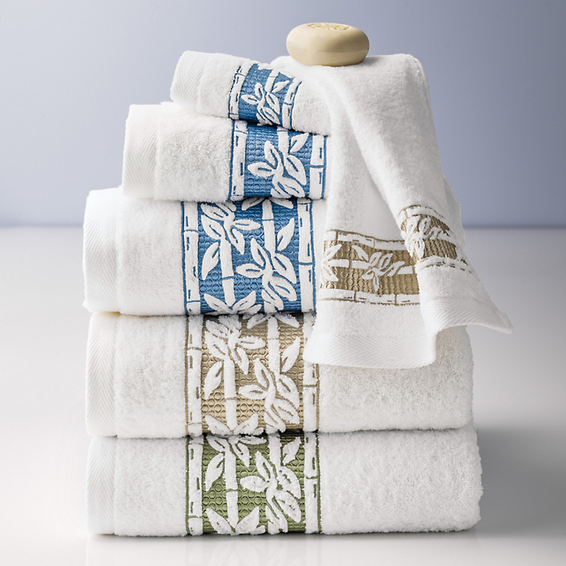 Sento Garden Bamboo Embroidered Towels