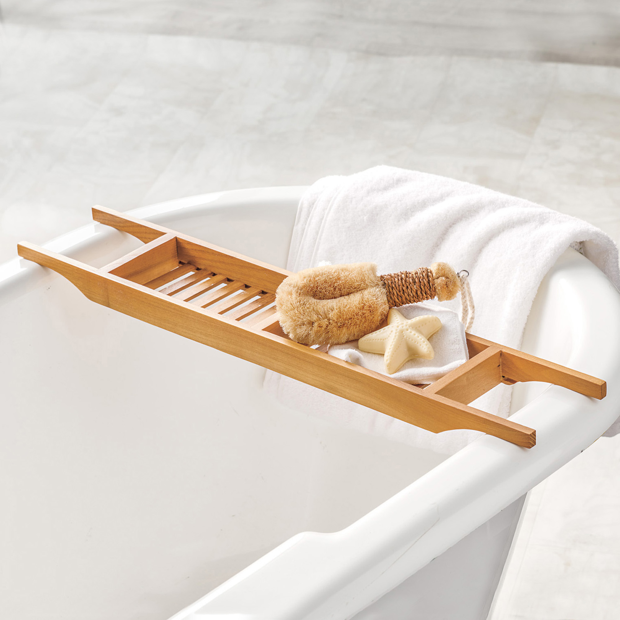 Teak Tub Caddy