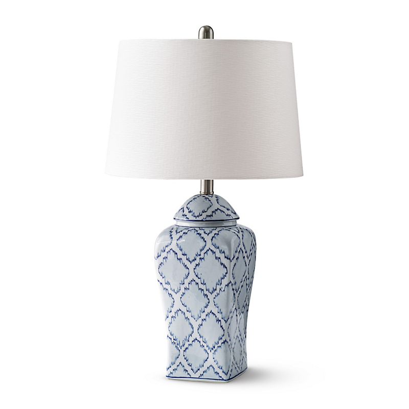Blue Ikat Lamp