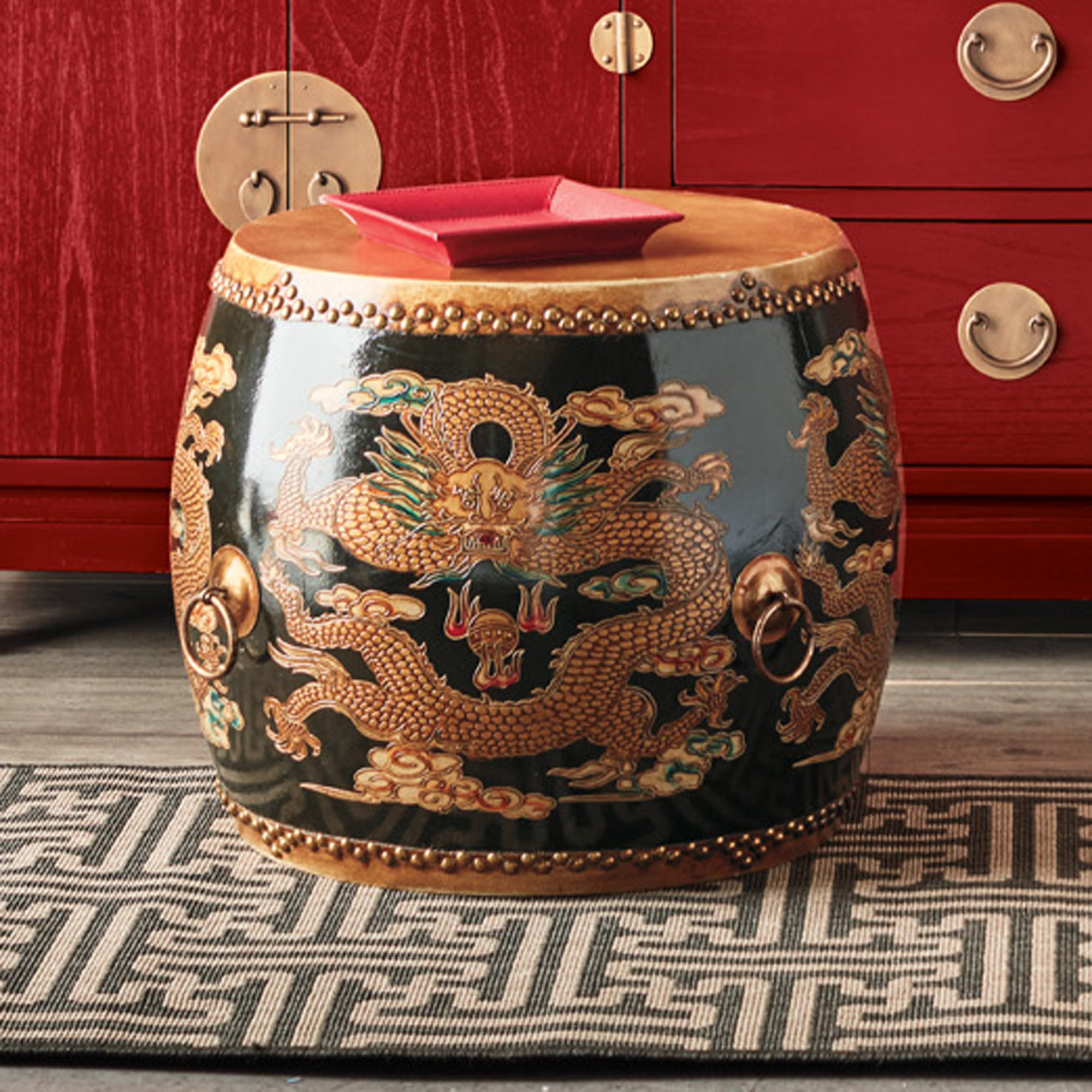 Ceremonial Drum Table, Black