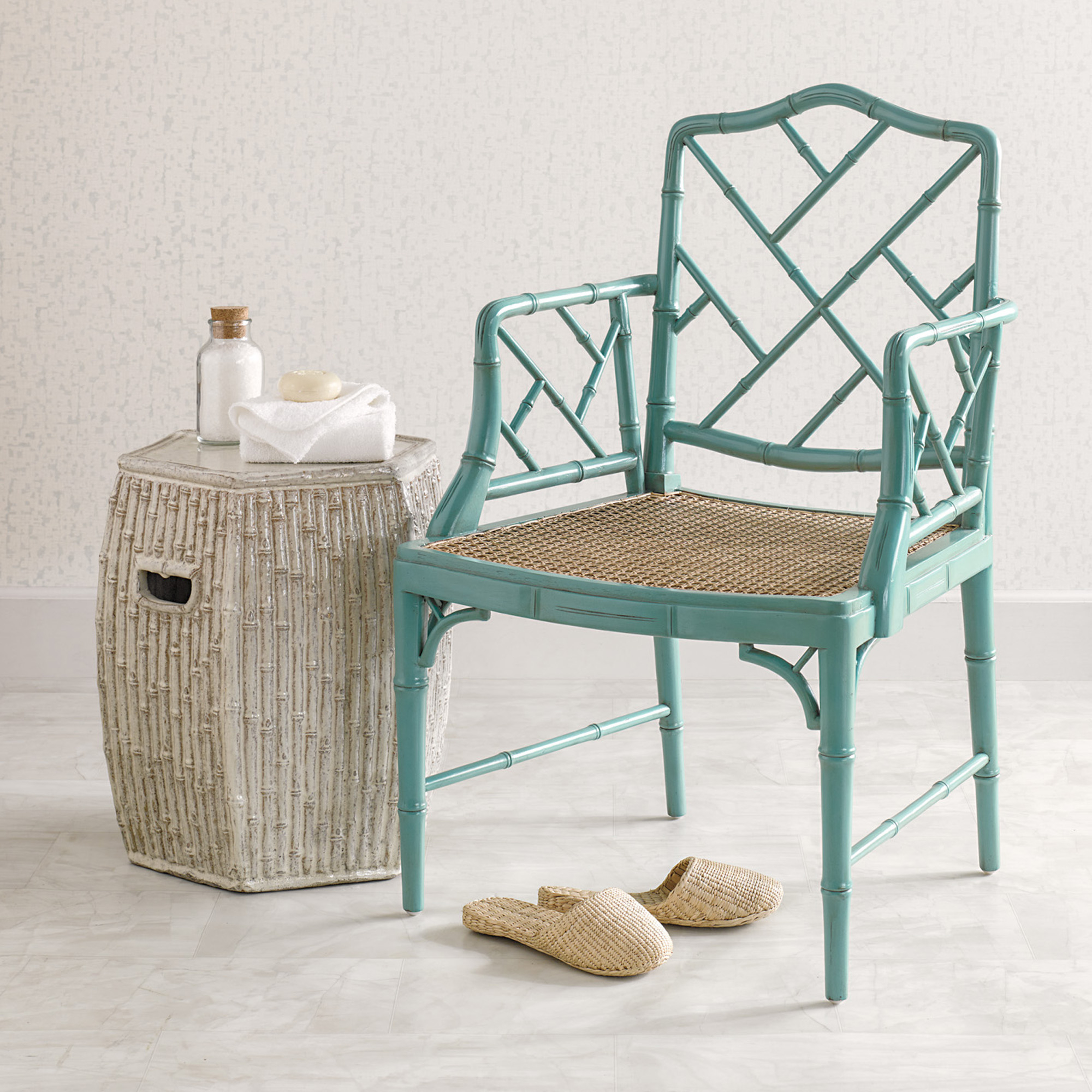 Turquoise Grayson Armchair & Cushion