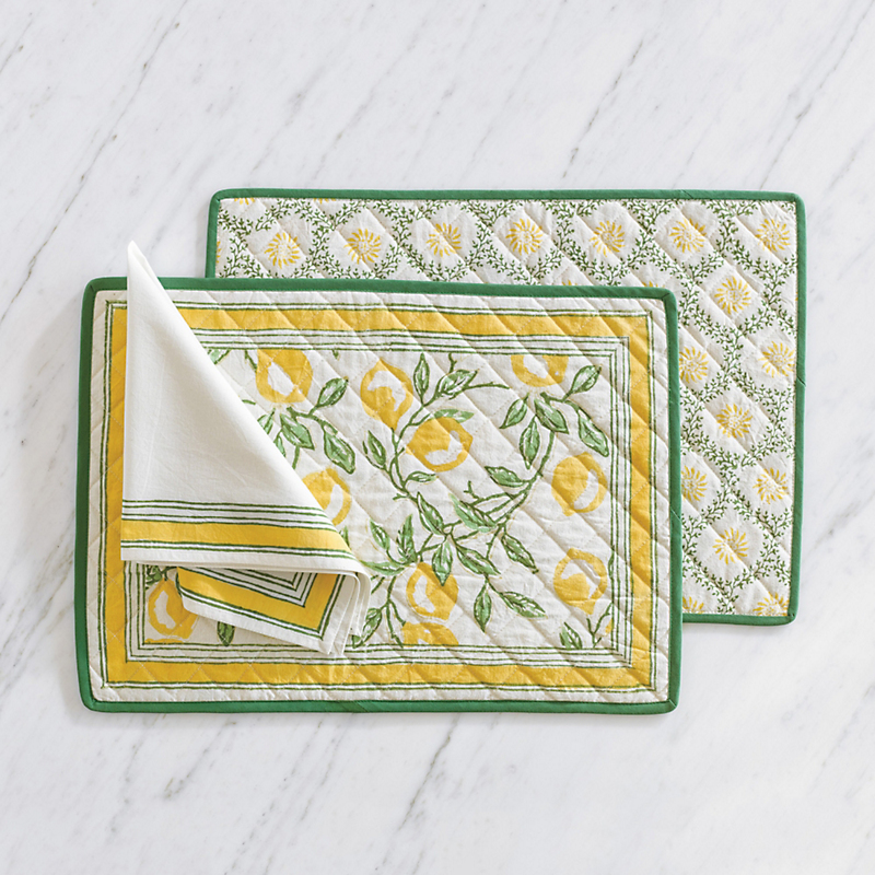 Lemon Tree Table Linens