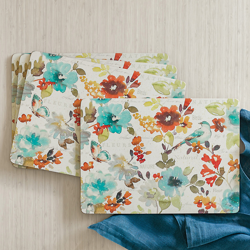 Autumn Cosmos Placemats, Set Of 4