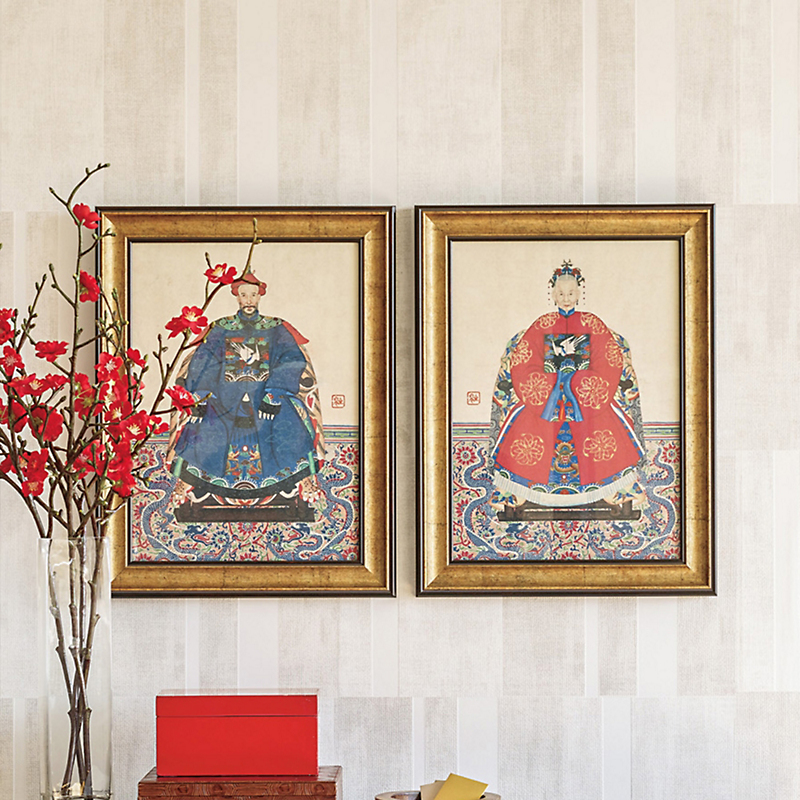 Qing Magistrate & Wife Prints