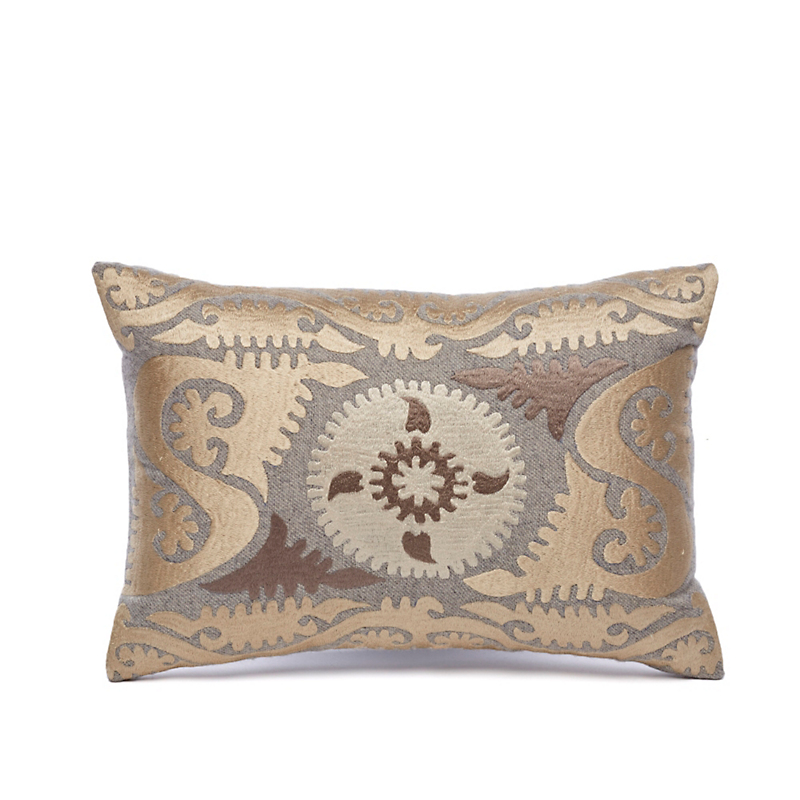 Treasure Trove Gold & Silver Medallion Pillow