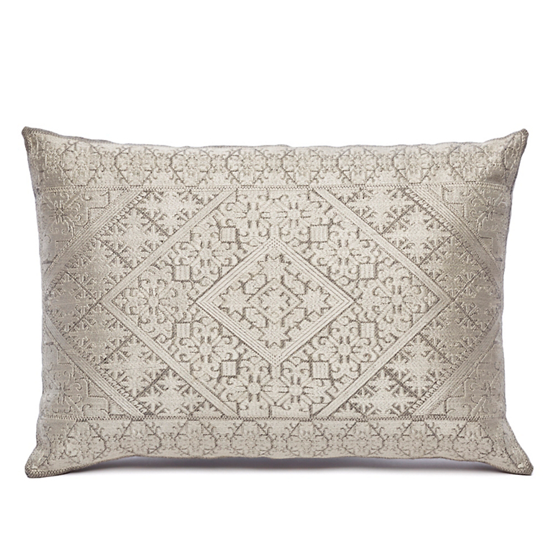 Treasure Trove Silver Diamonds Pillow