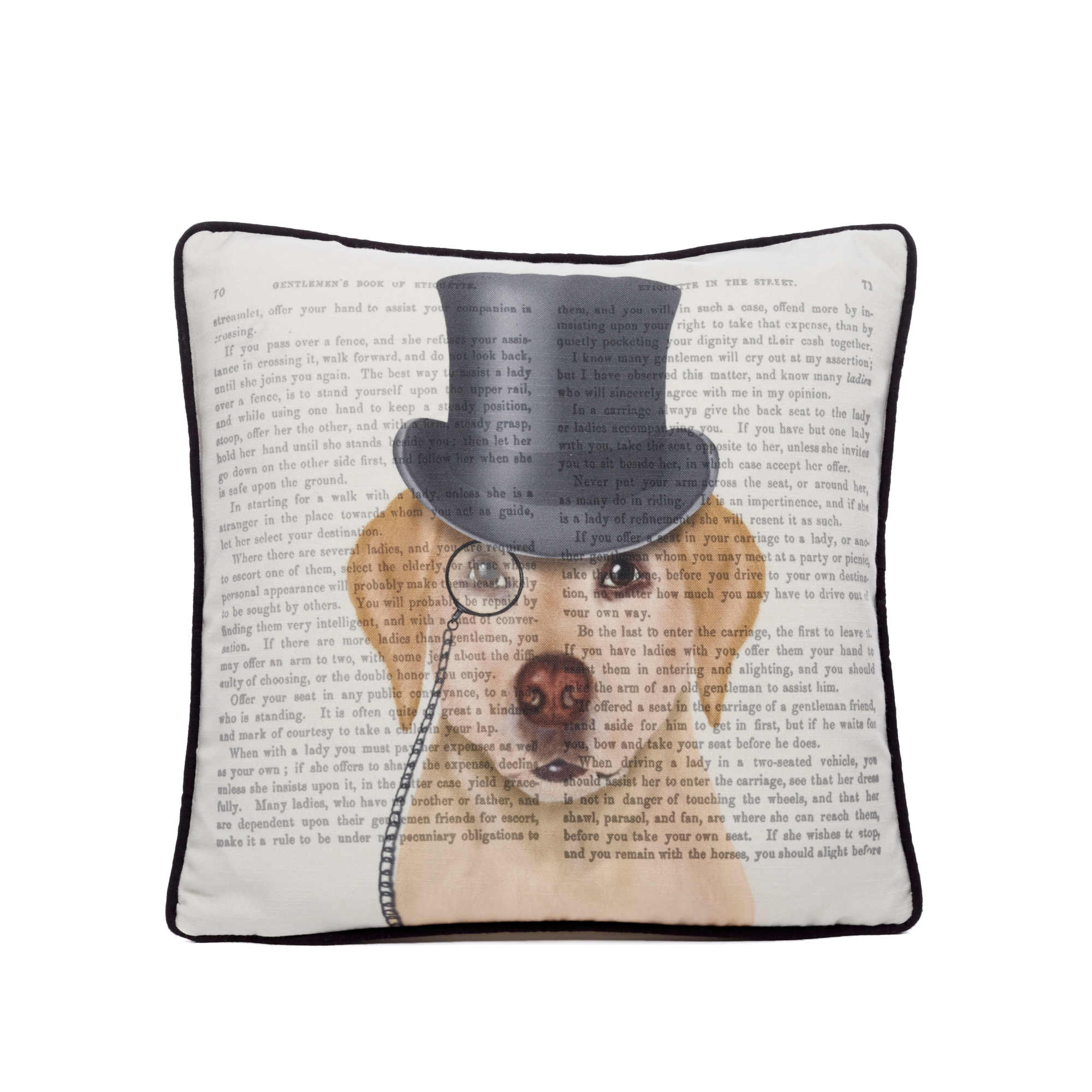 Dapper Yellow Labrador Dog Pillow