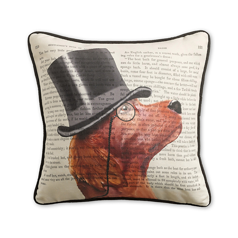 Dapper Red Setter Dog Pillow