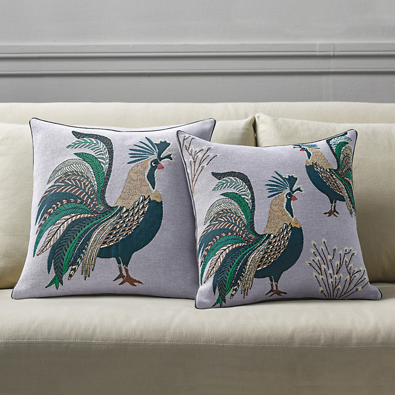 Rooster Tapestry Pillows