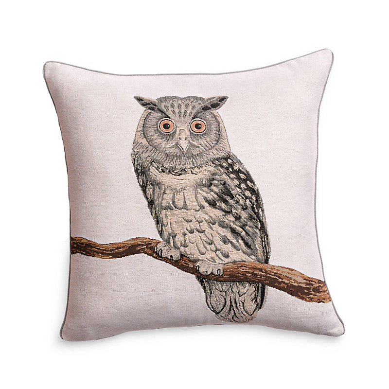 Norwich Owl Tapestry Pillow