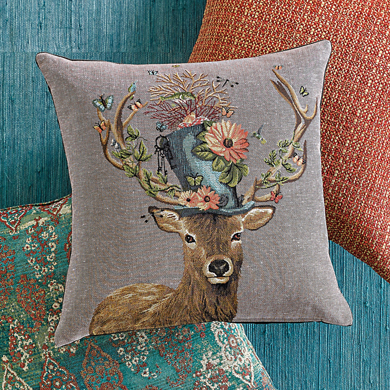 Black Forest Dapper Deer Pillow