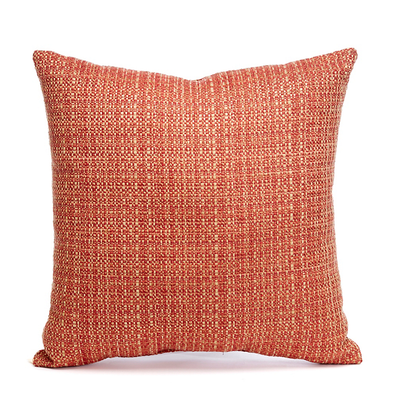 Black Forest Orange & Gold Tweed Pillow