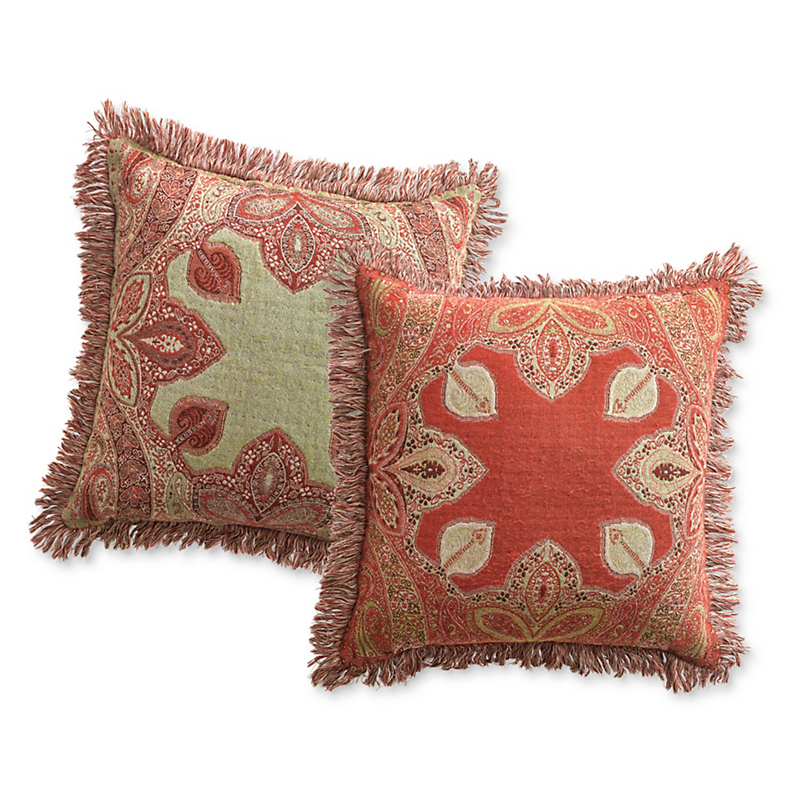 Autumn Paisley Pillow