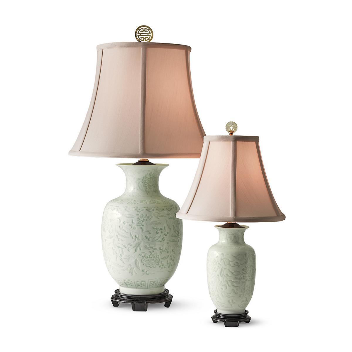 Celadon dynasty lamps