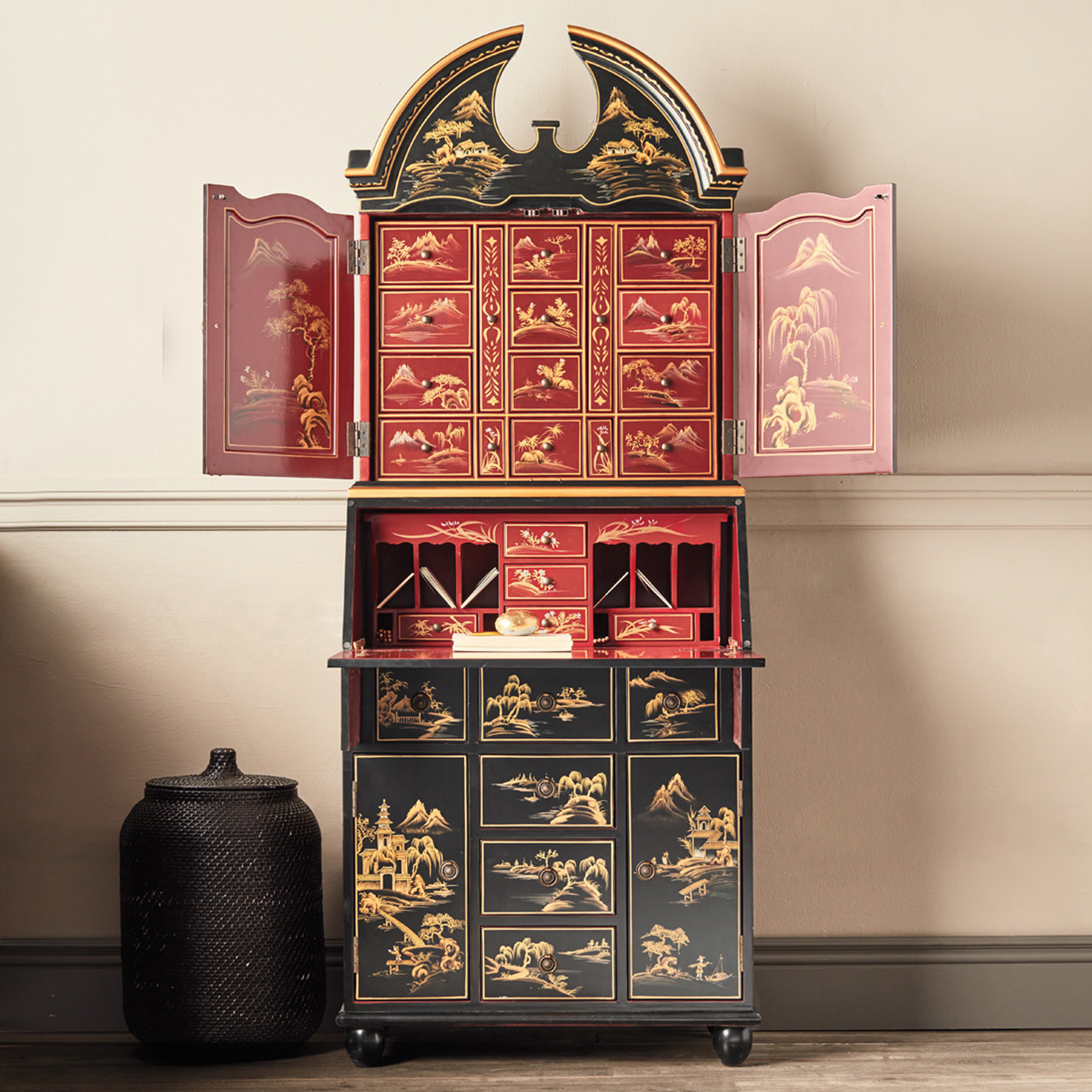 Chinoiserie Secretary Desk