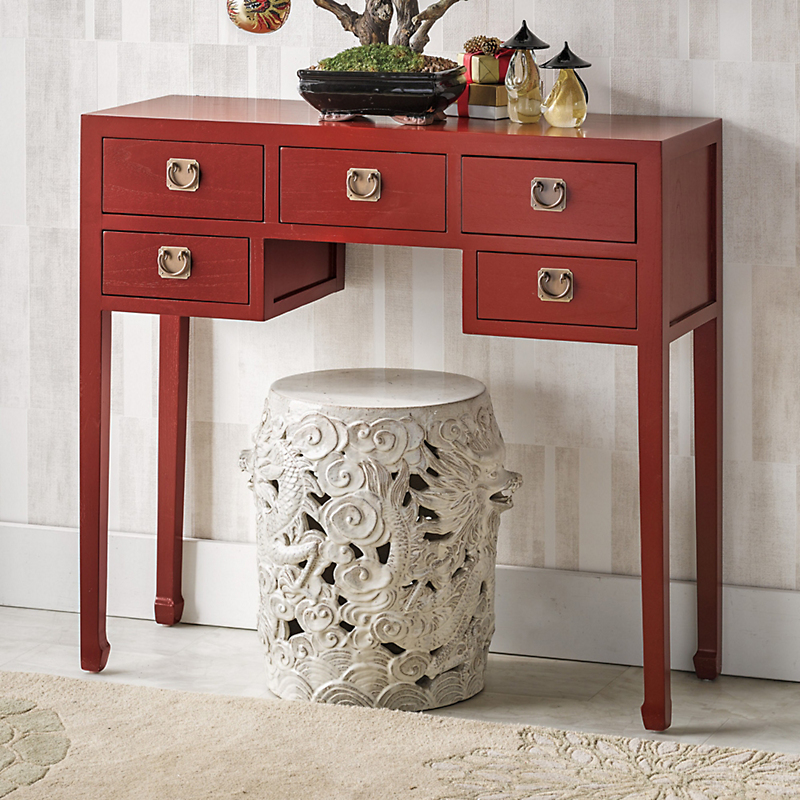 Peking Lacquer Console Table
