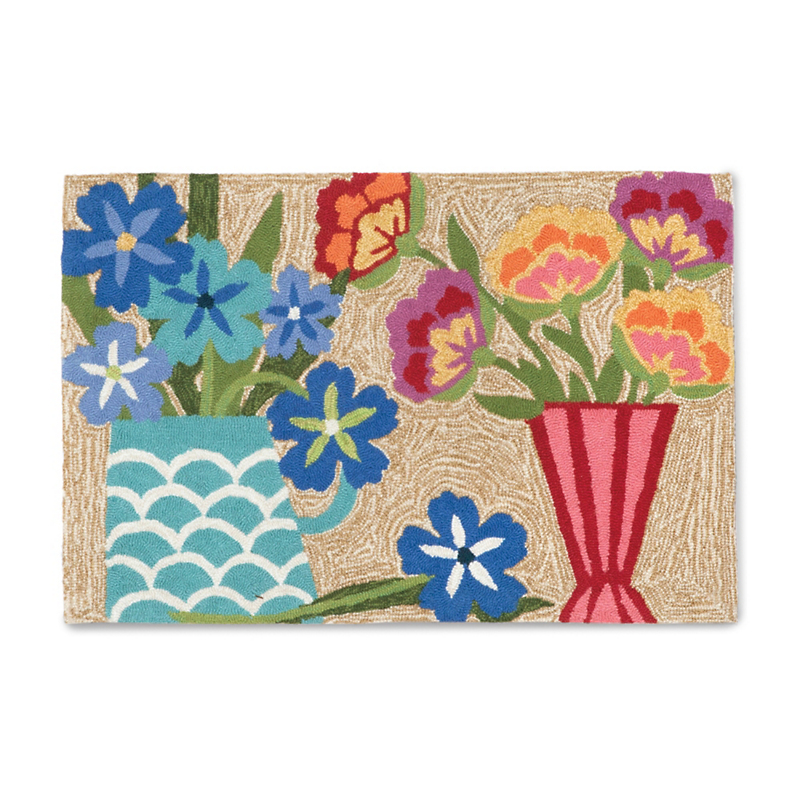 Balboa Indoor / Outdoor Collection Multicolor Floral Rug