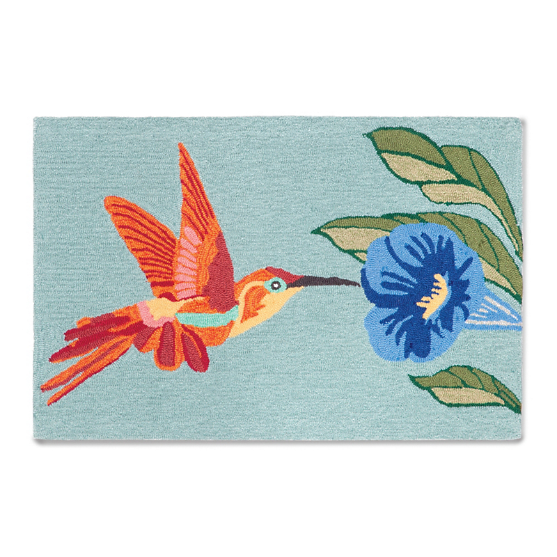Balboa Indoor/Outdoor Collection Hummingbird Rug