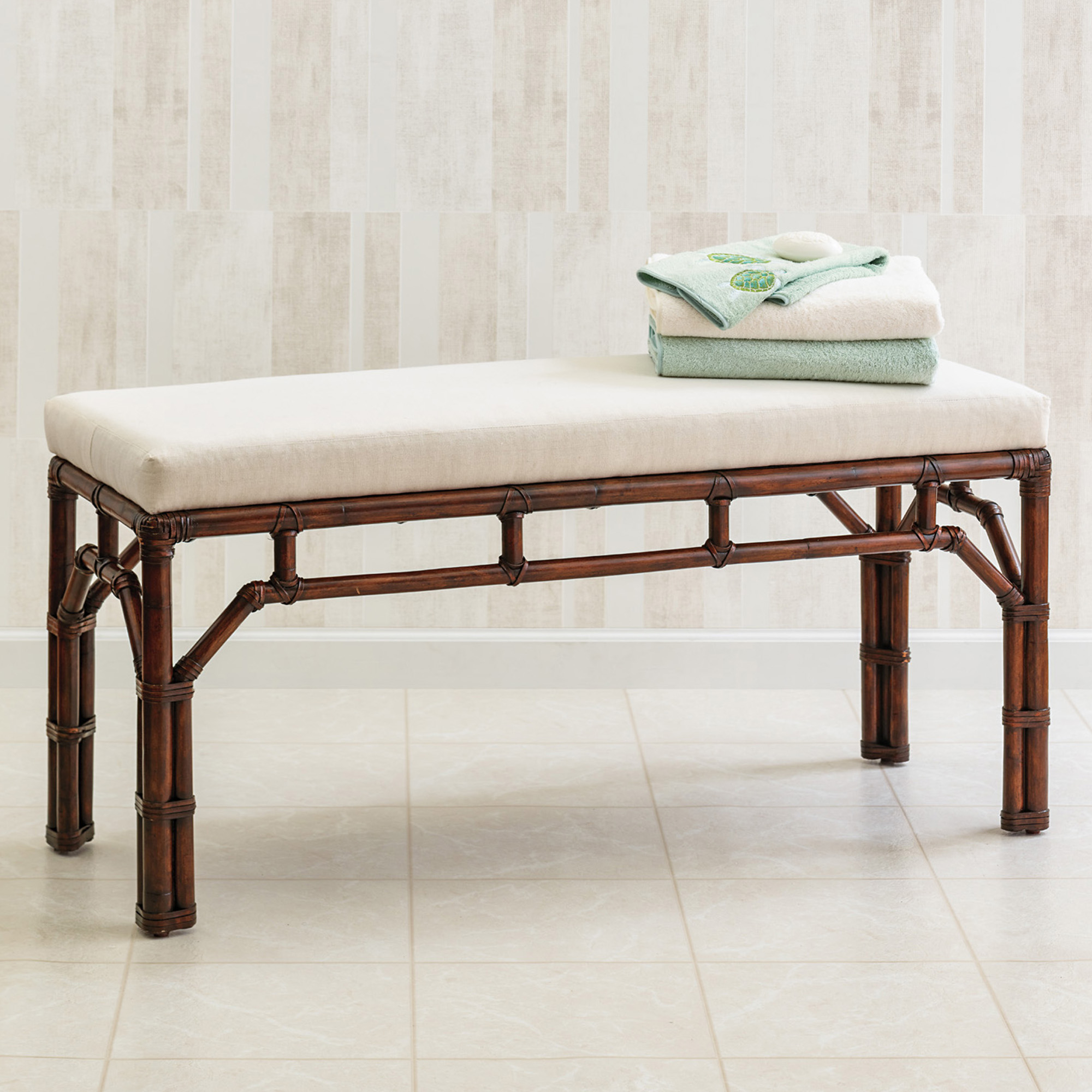 Tennyson Rattan Bench