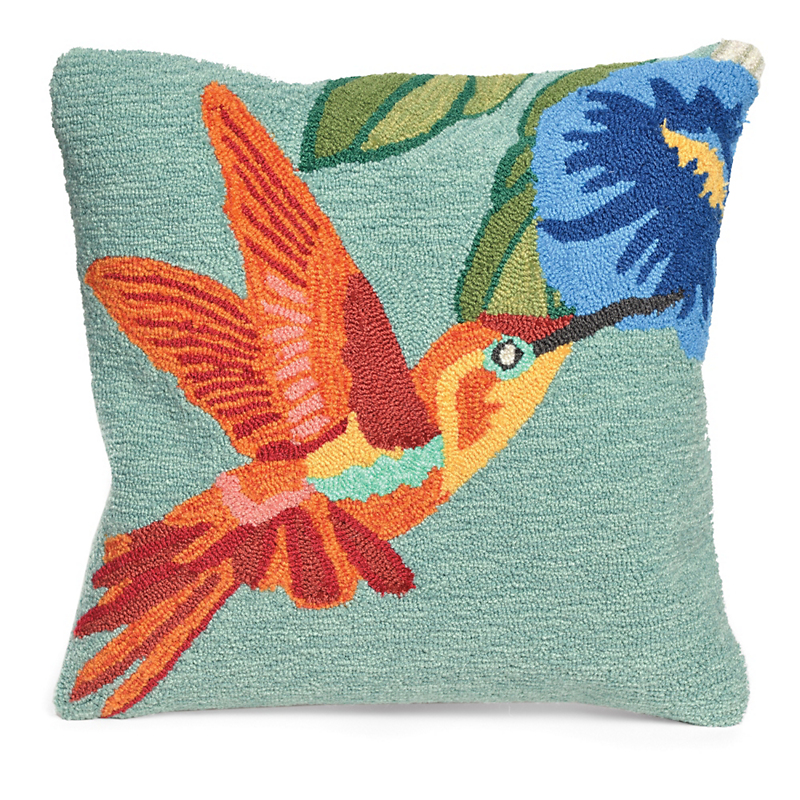 Balboa Indoor/Outdoor Collection Hummingbird Pillow