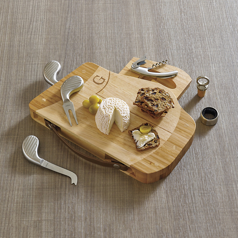 Golf Caddy 7 Piece Cheeseboard Set