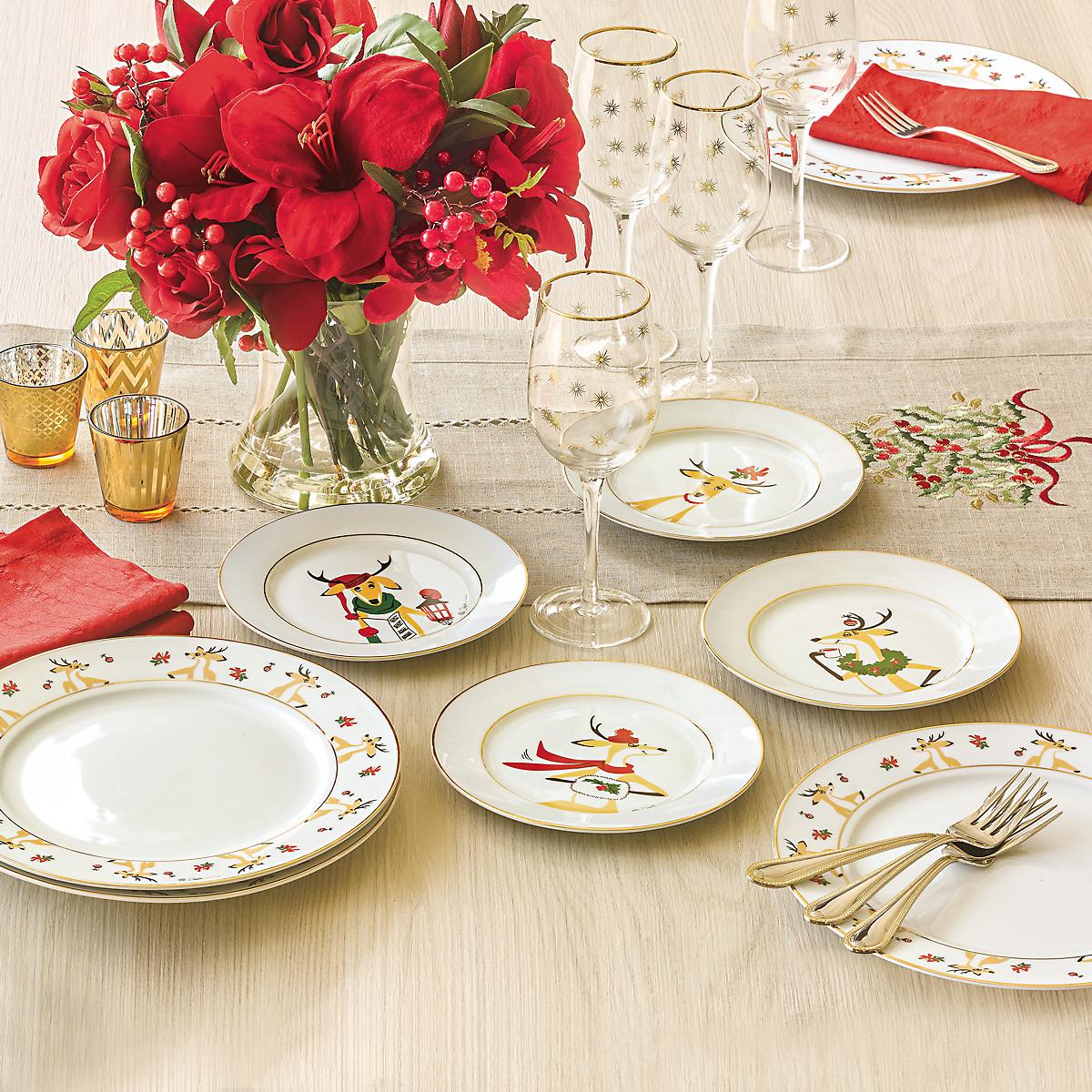 Constance Depler Reindeer Dinnerware | Gump\'s