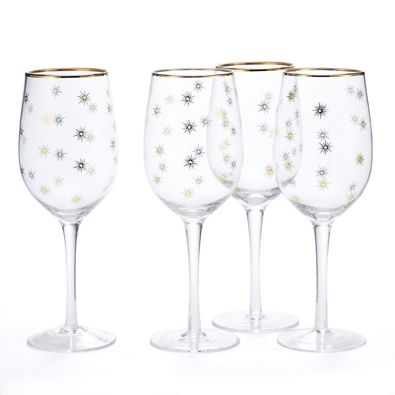 Holiday Sparkle Wineglasses, Set Of 4