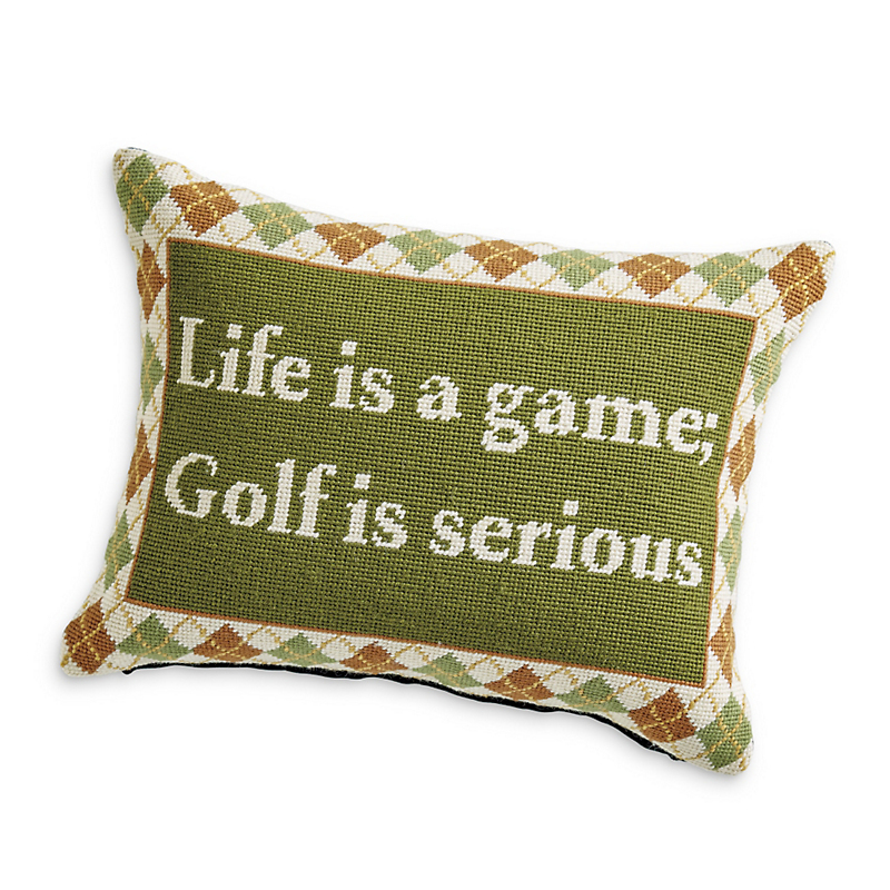 Golf Needlepoint Pillow