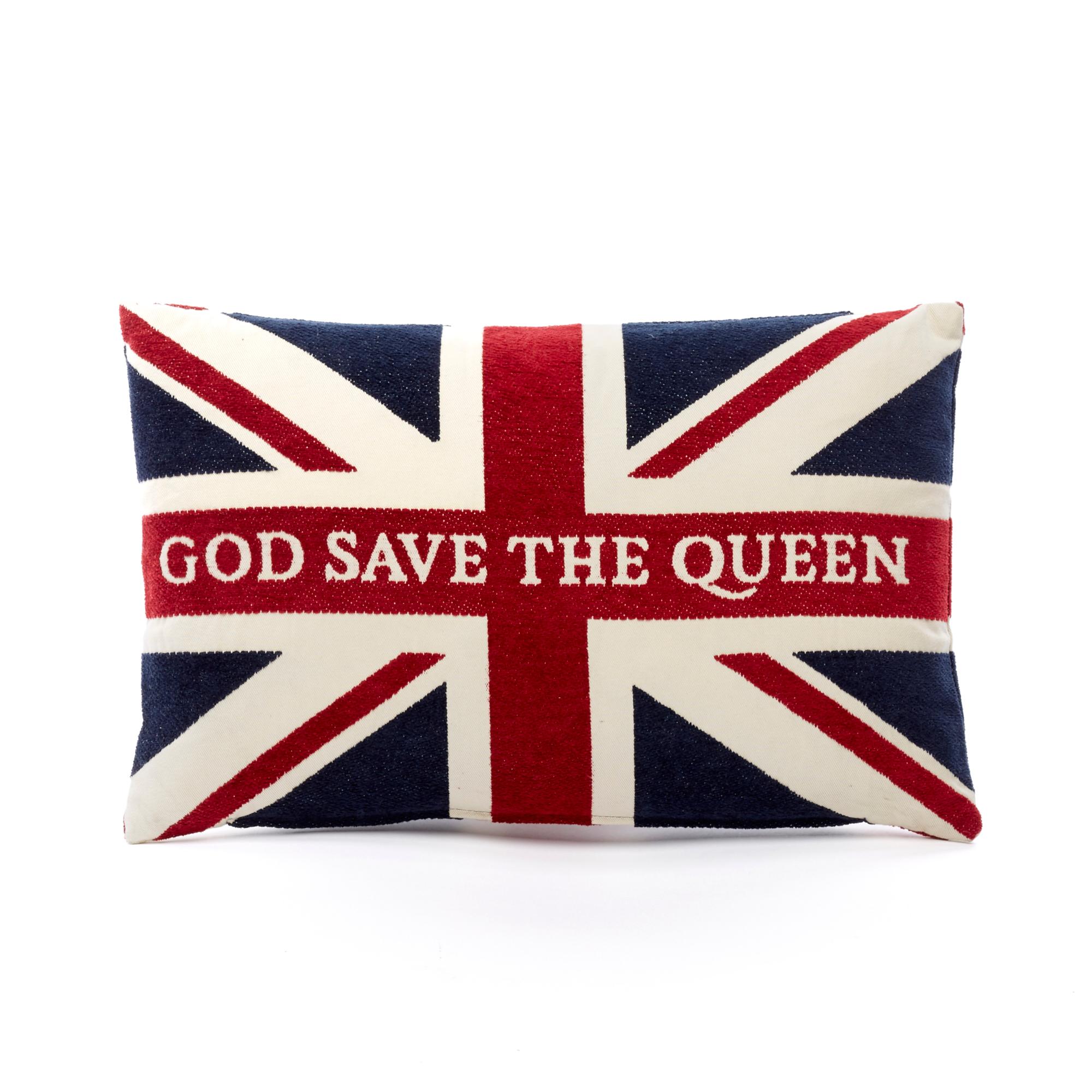 39 god save the queen 39 pillow gump 39 s. Black Bedroom Furniture Sets. Home Design Ideas