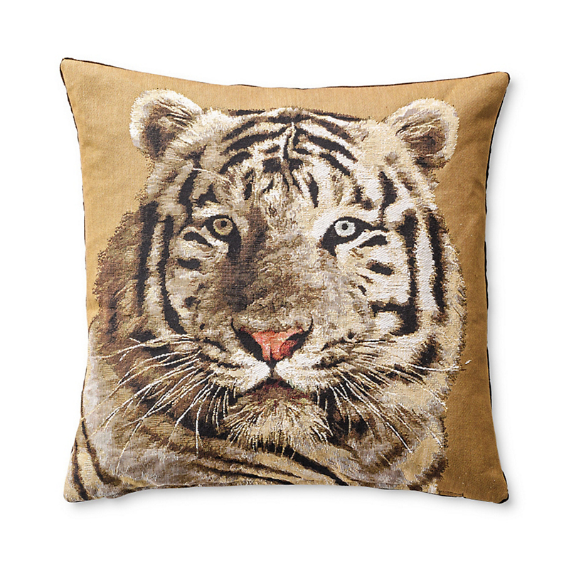 White Tiger Tapestry Pillow