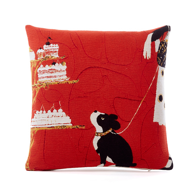 French Tapestry Boston Terrier Pillow
