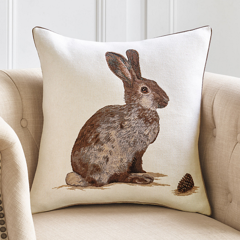 European Hare Tapestry Pillow