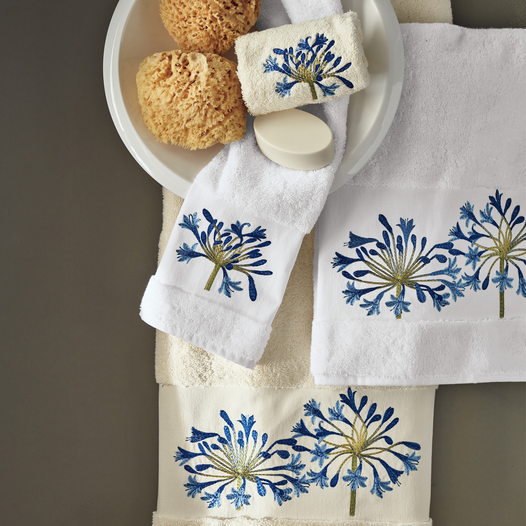 Blue Agapanthus Towels