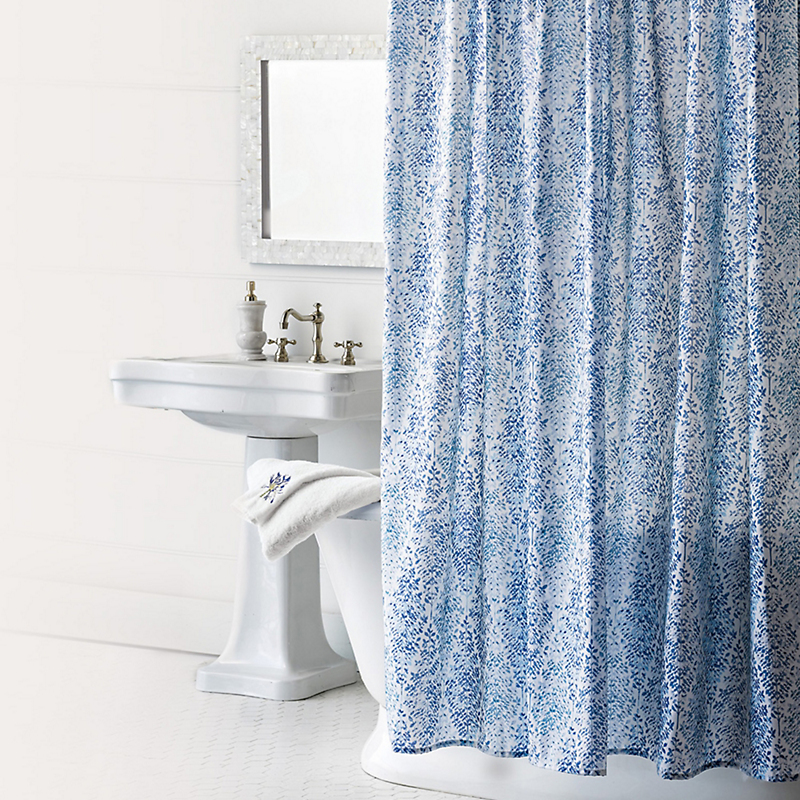 Mila Blue Shower Curtain