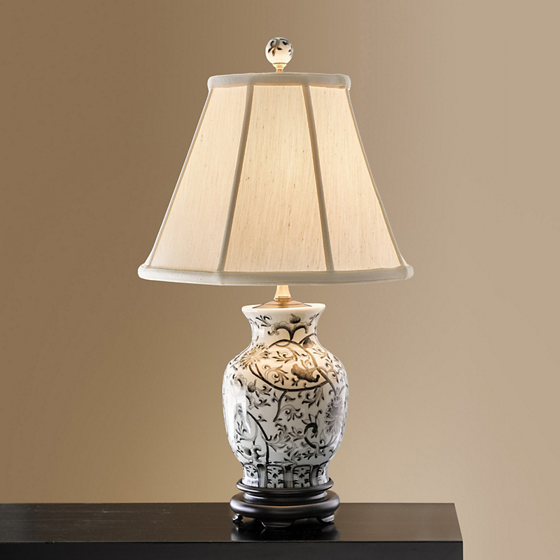 Midnight Garden Porcelain Lamp