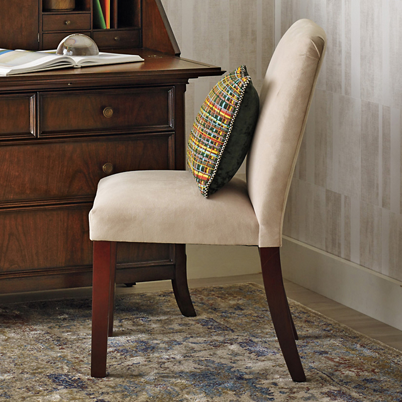 Taupe Parsons Side Chair