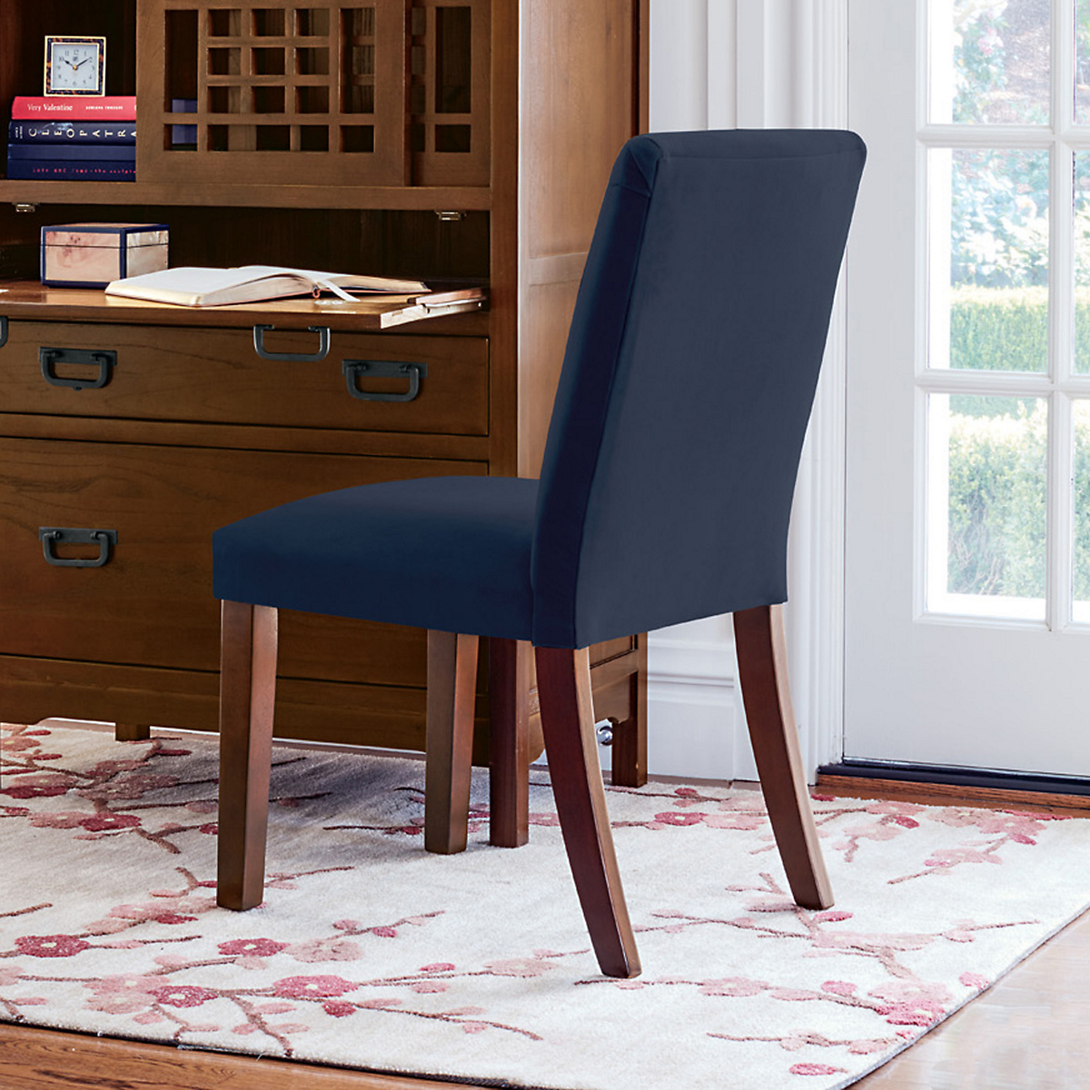Parsons Navy Blue Side Chair