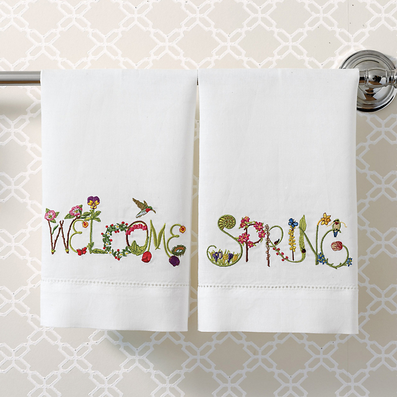 Welcome Spring Guest Towels