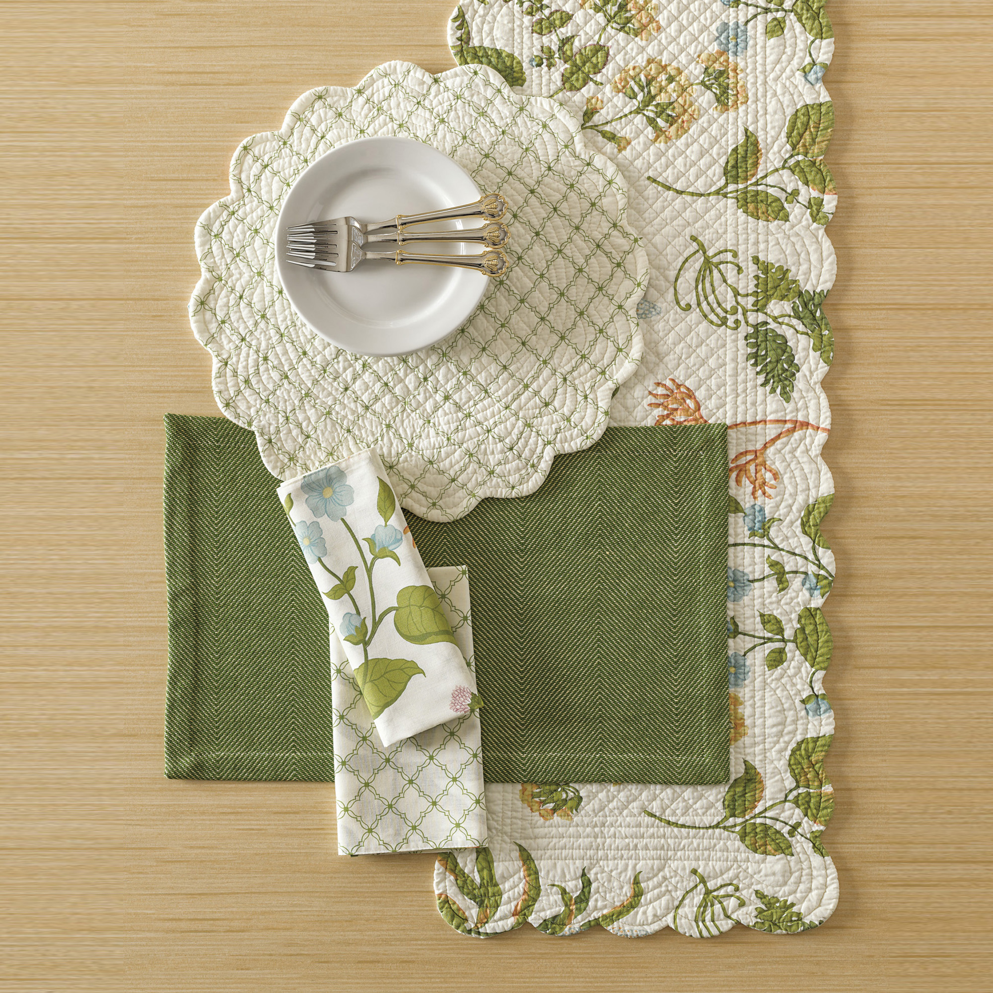 Spring Meadow Table Linens