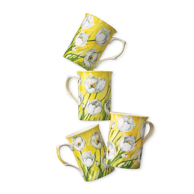 Set Of 4 Tulip Mugs