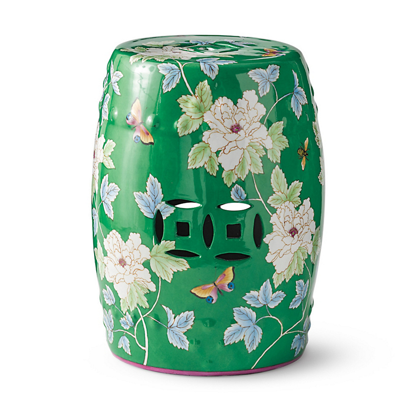 Spring Botanical Stool
