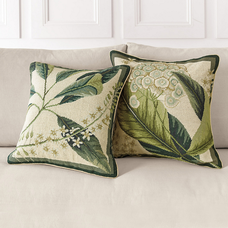 Naturalist Needlepoint Pillows