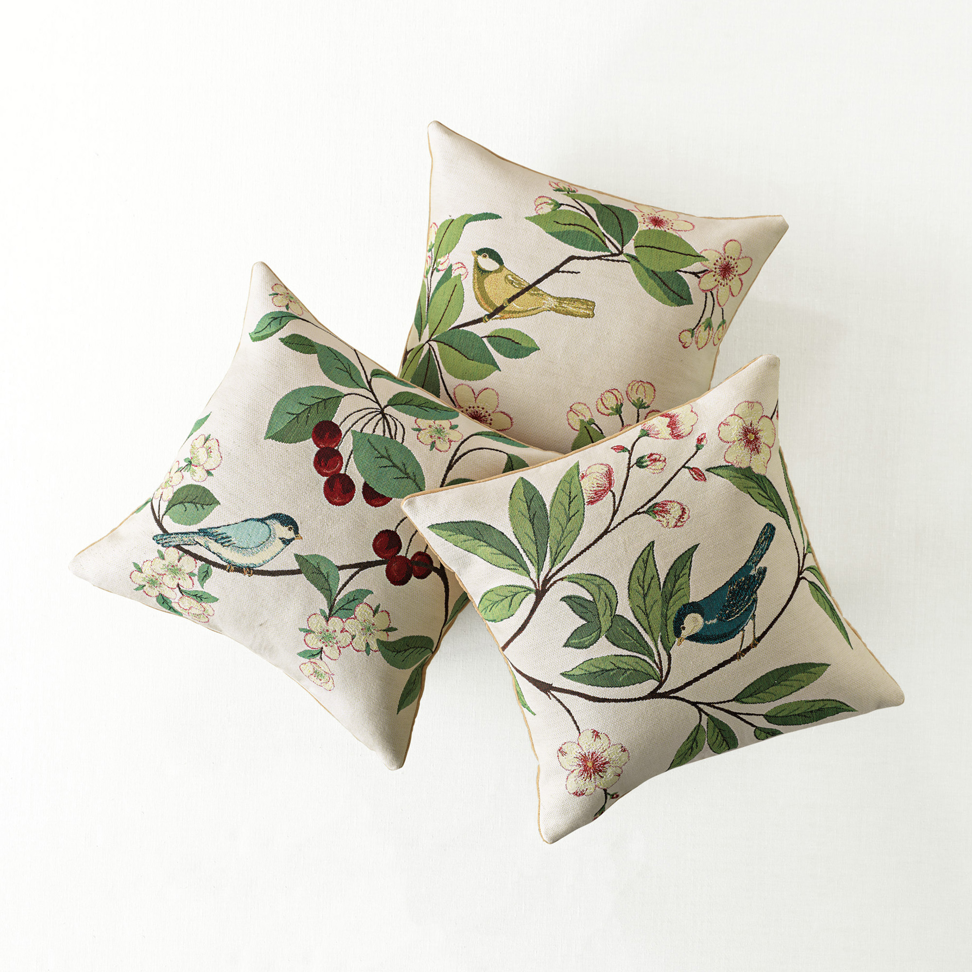 Birds & Blossoms Pillows