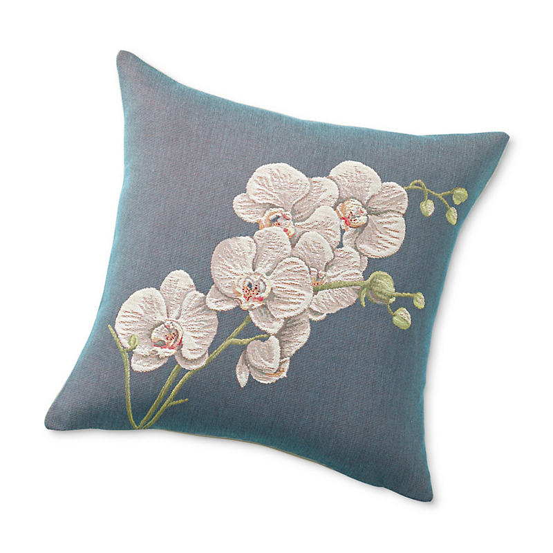 Bella Orchid Tapestry Pillow
