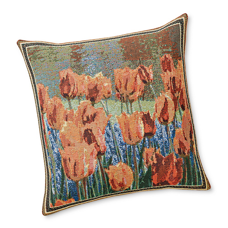 Dutch Garden Tulips Pillow